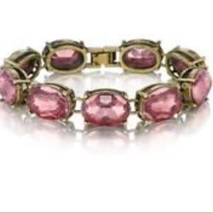 Chloe + Isabel pink retro glam crystal bracelet